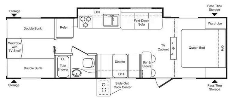 Keystone Passport 290BH Floorplan