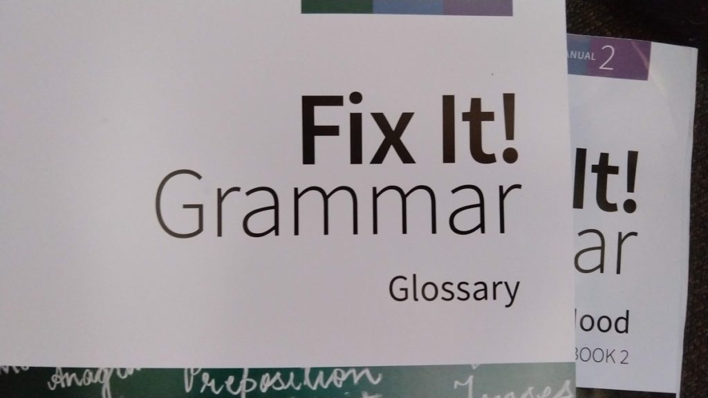 Fix It! Grammar from Institute for Excellence in Writing